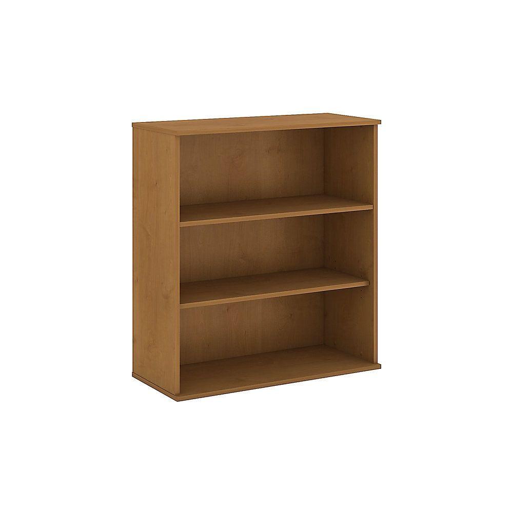 Bush Business Furniture 3 Shelf Bookcase 48 H Natural Cherry