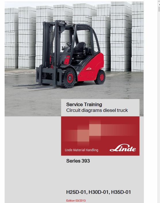 Linde Type 393 Forklift Truck H-Series: H25D-02, H30D-02