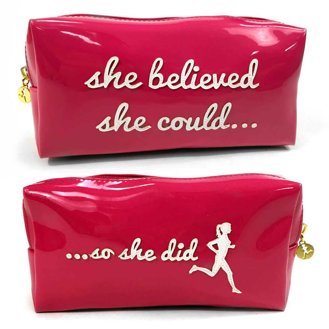 She Believed She Could Runner's Cosmetic Bag - Lexi