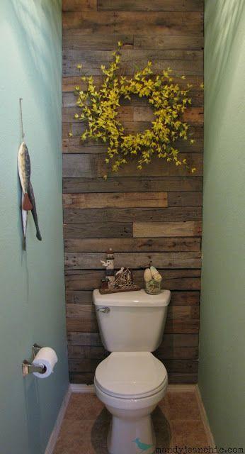 Pallet Wood Wall In Bathroom