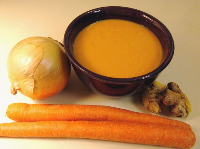 This carrot ginger soup will warm you on a cold day. Make it with coconut milk instead of regular milk. Yum!