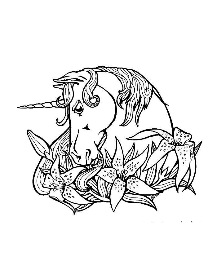 Print Eenhoorn Kleurplaat 2 Color Cute Pinterest Unicorn