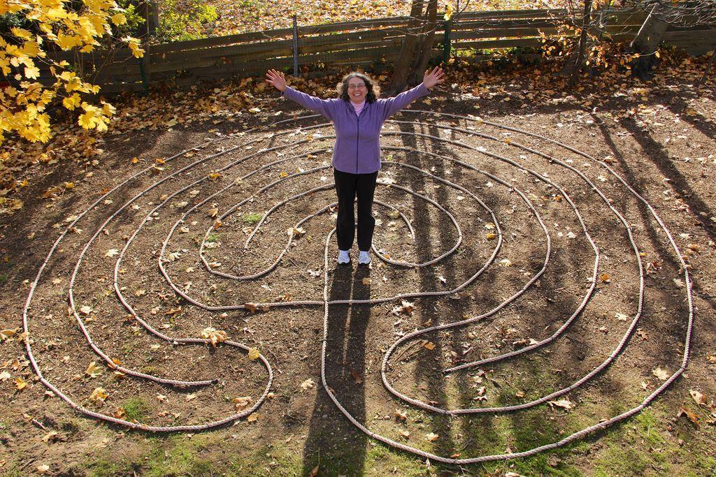 Build A Backyard Labyrinth. Meditation GardenPrayer ...