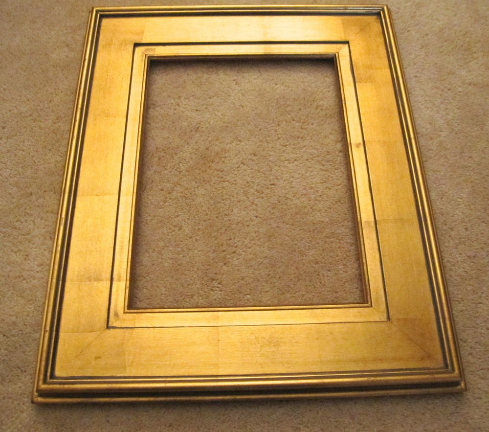 Gold Leaf Plein Air Wide Wood Frame 12 X 16 4 1 2 Wide Wood Frame Frame Gold Leaf
