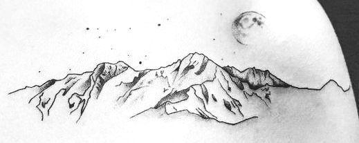 Photo of #Mountain #Starry #Tattoo #starry #mountain #tattoo  starry
