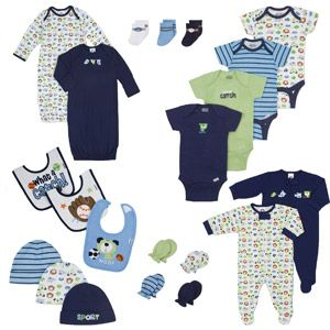 Gerber - Newborn Boys' 21-Piece Essential Layette Set