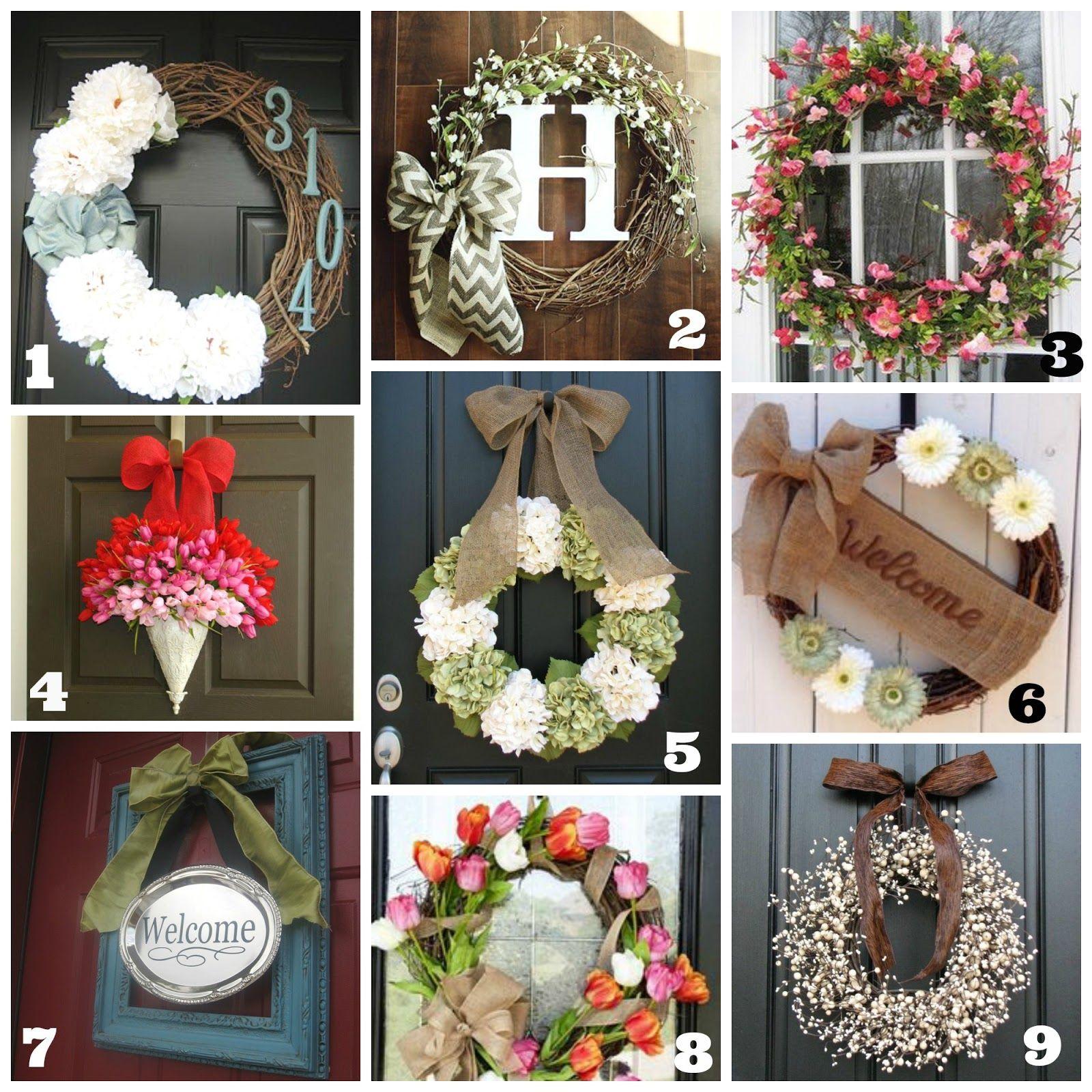 Great Round Up Of Diy Front Door Wreaths Springsummer Thrifty