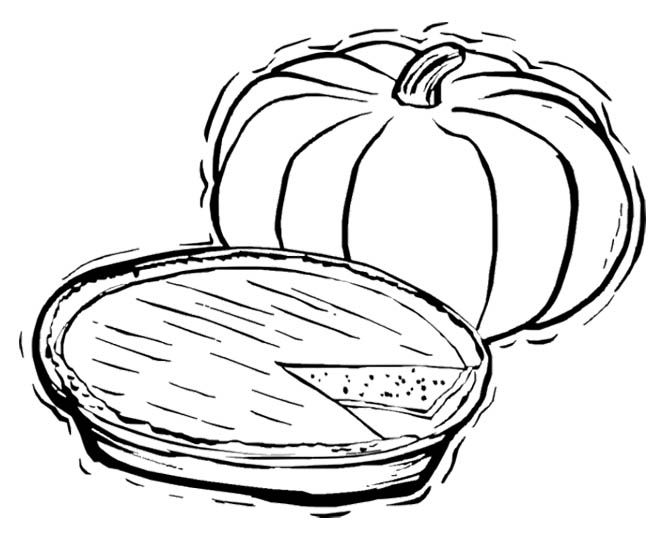 Pumpkin Pie Coloring Page Food Coloring Pages Coloring For Kids Coloring Pages For Kids