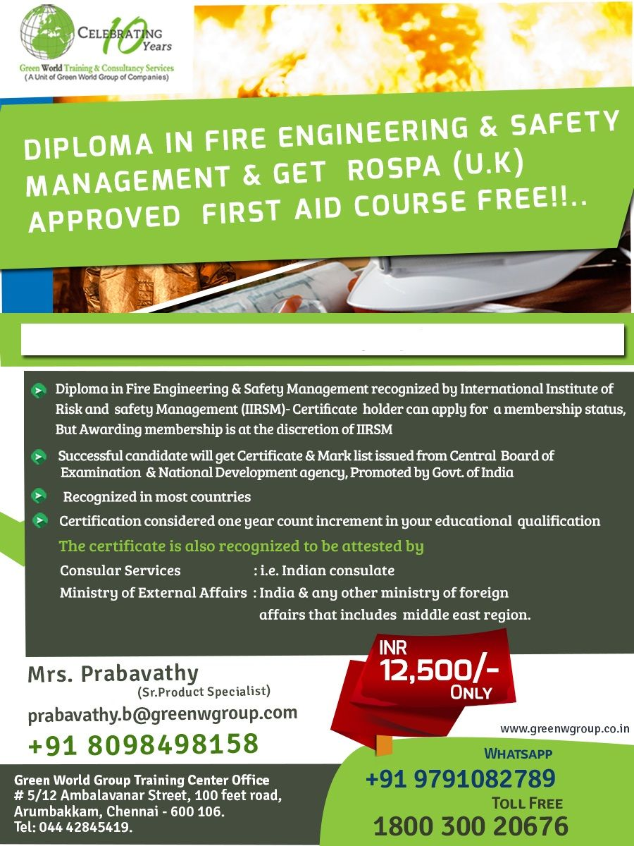 Pin By Green World On Diploma In Fire Engineering And Safety