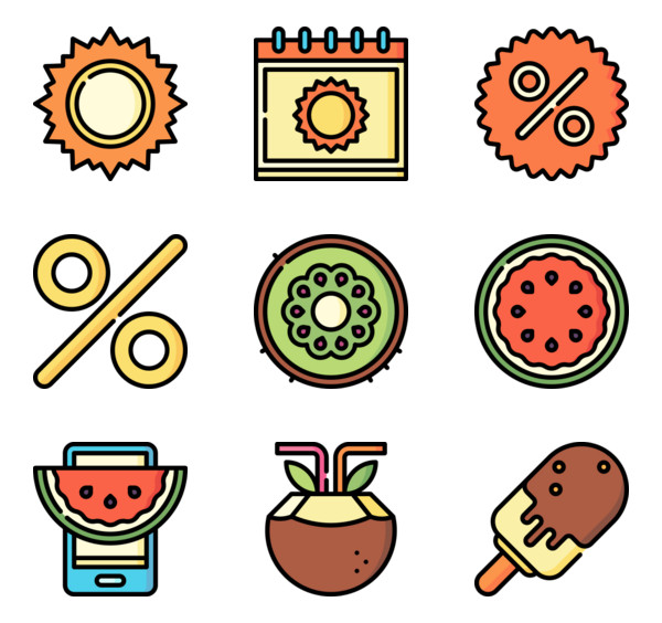 50 premium vector icons of Summer Sales designed by