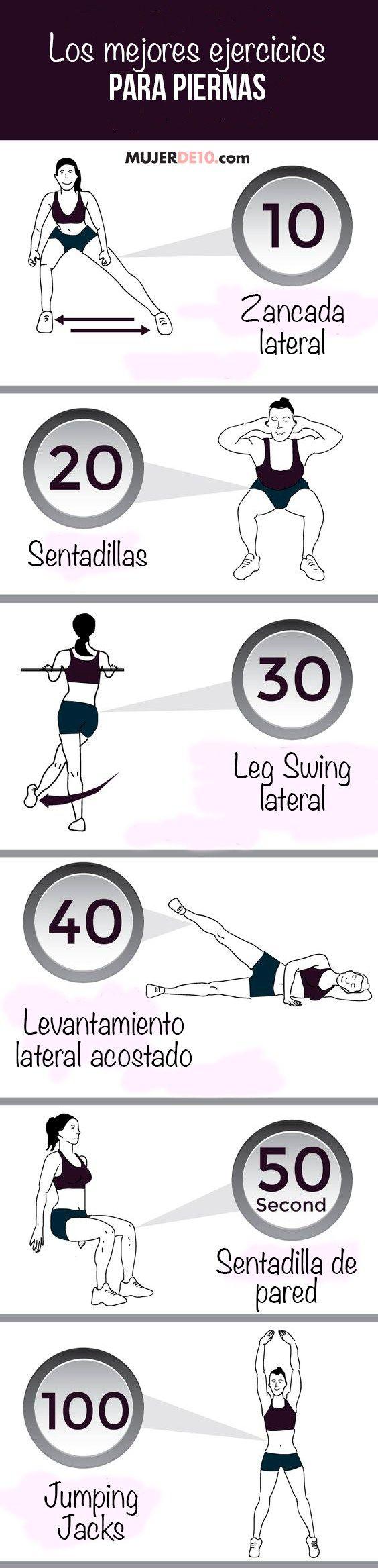 los mejores ejercicios para piernas y gluteos