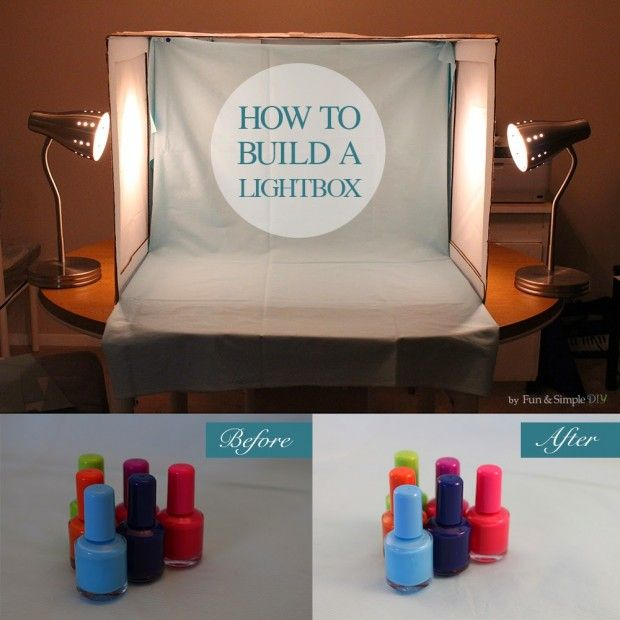 How to Make Your Own #DIY Lightbox