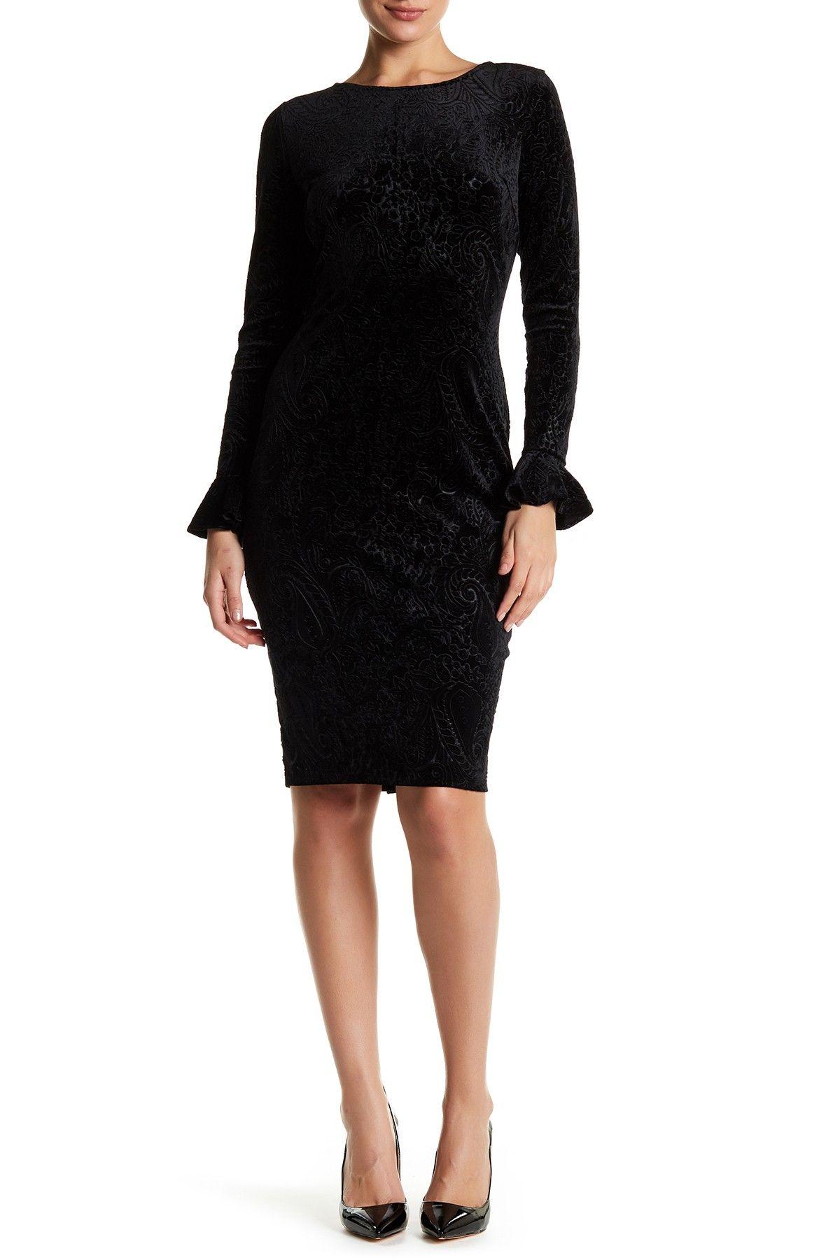 8d48659414a0 Velvet Bell Sleeve Bodycon Dress by Alexia Admor on @HauteLook ...