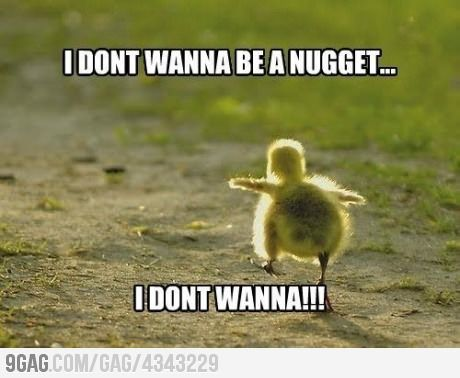 I don't wanna be a nugget....