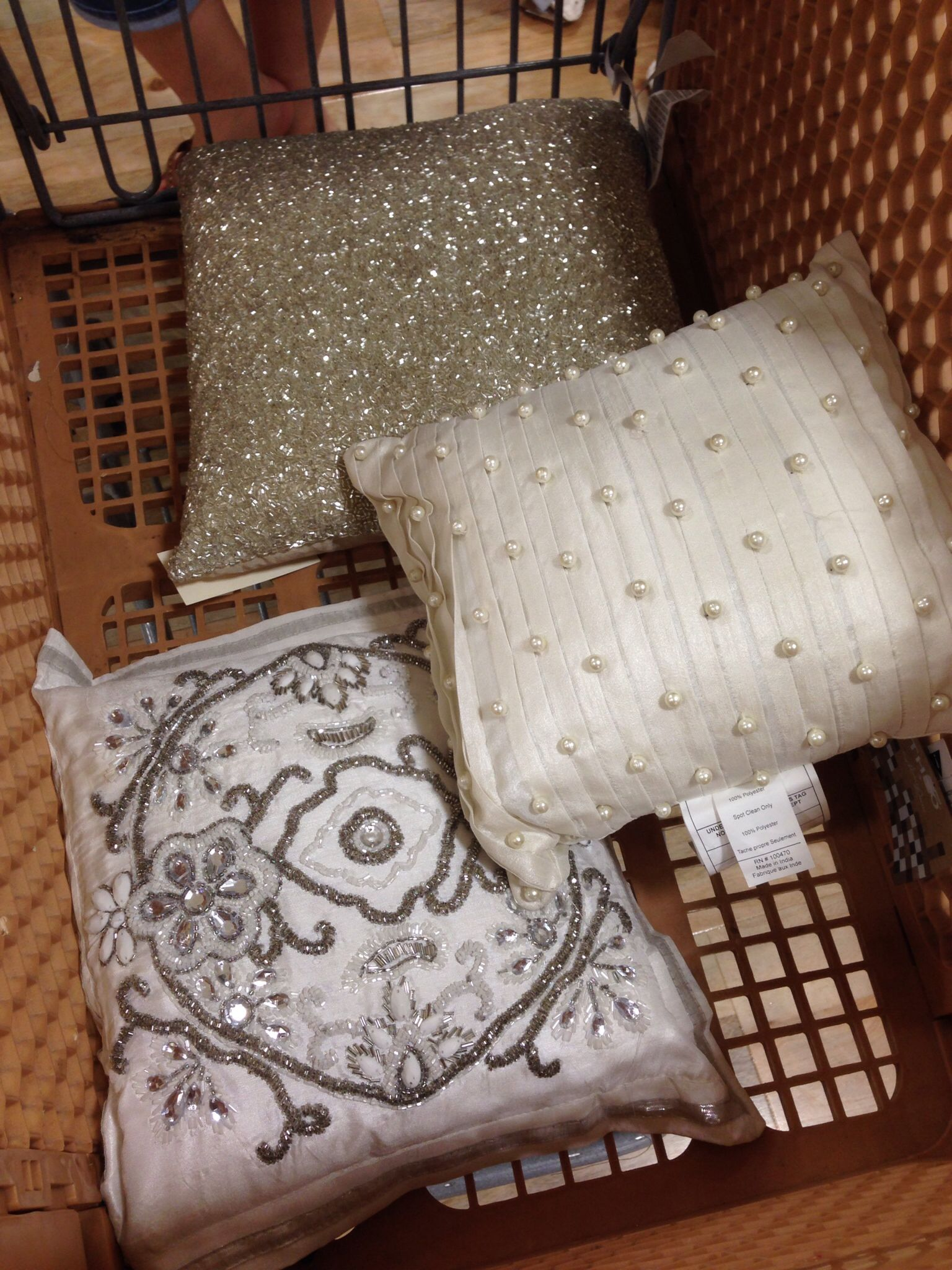 Beautiful nicole miller and Calvin Klein pillows found at home