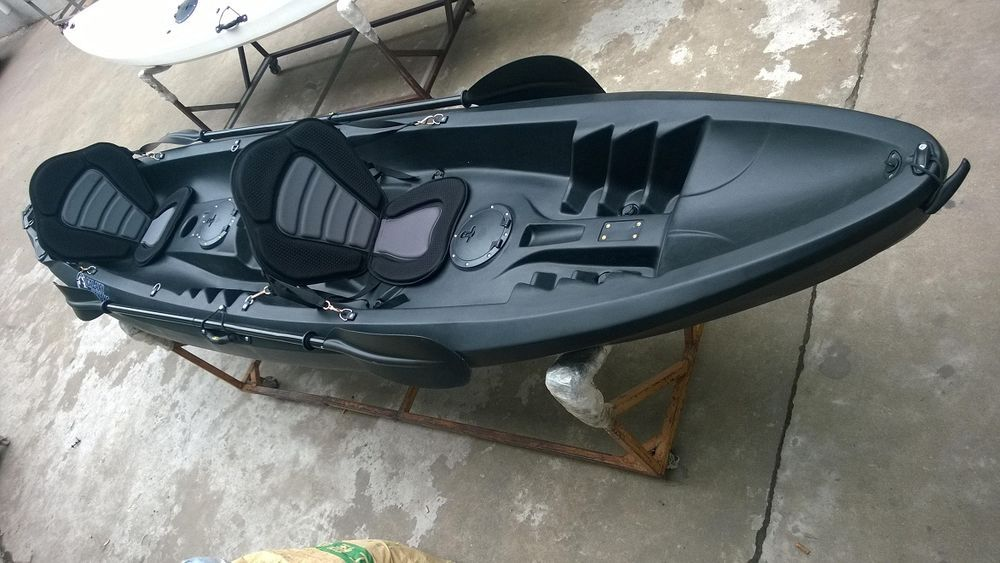 Tandem Sit On Top Kayak Canoe Galaxy Cruz Limited Edition Black White Ebay Kayaking Best Fishing Kayak Kayak Fishing