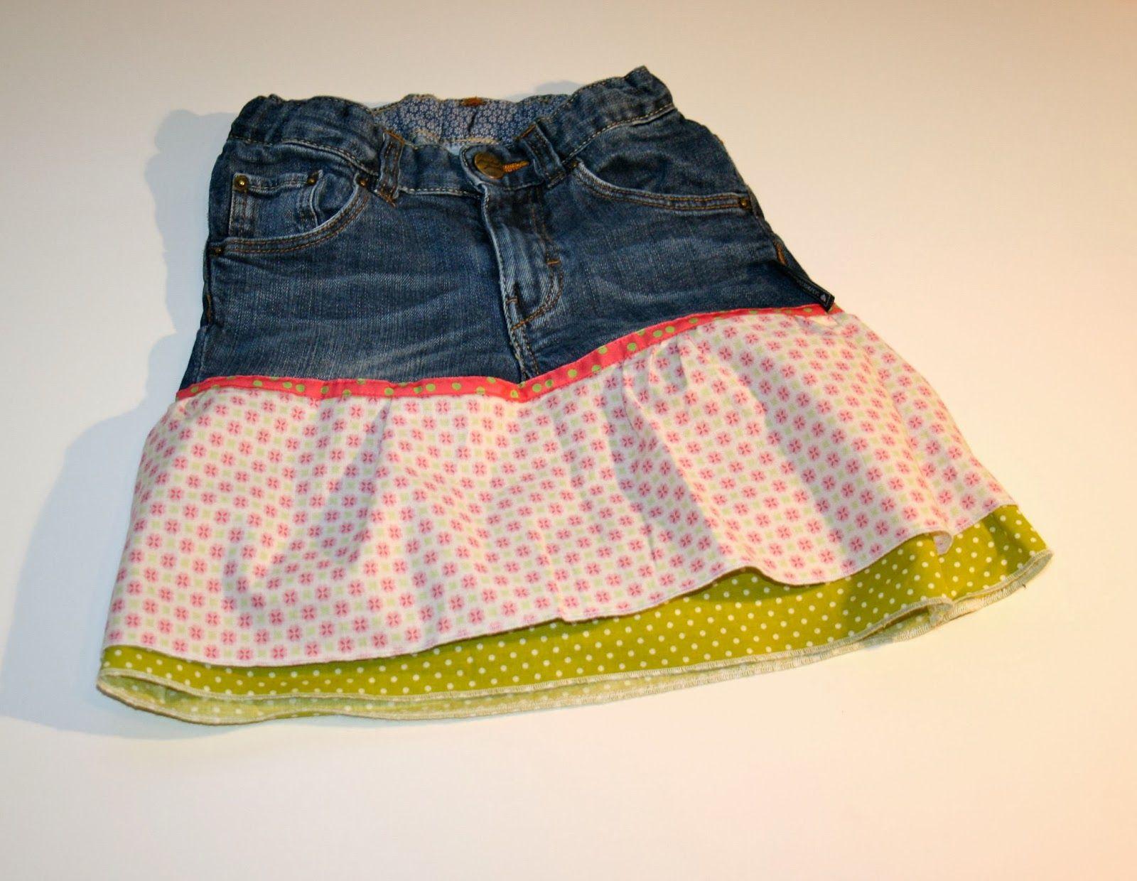 47388a2a22df Rosa Recycling | Nähen | Kinderkleid nähen, Jeans nähen und Hose nähen