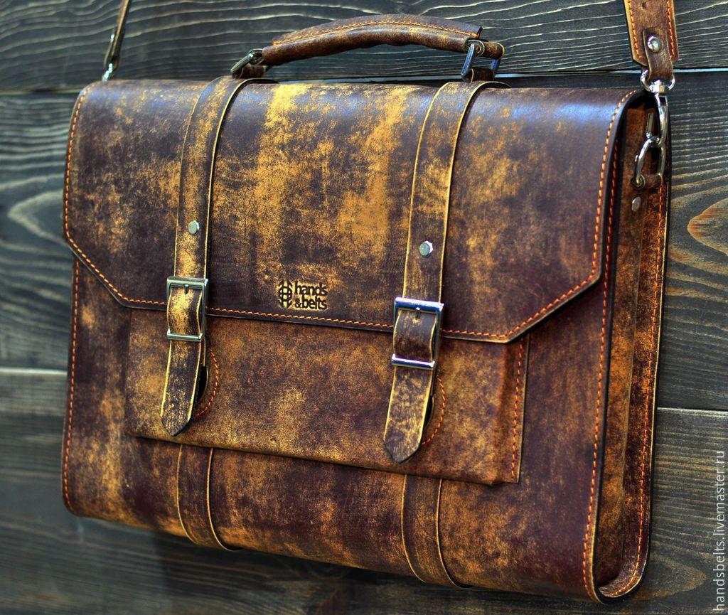 7bdda4197730 Купить Деловой портфель мужской состаренный арт. 8029 купить - Кожаная сумка,  сумка женская