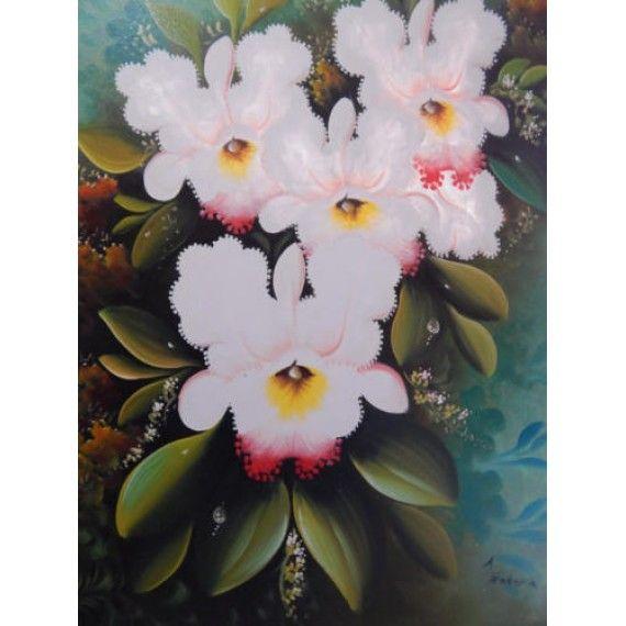 Lukisan Objek 4 Bunga Tinggi 80cm Lebar 60cm Bahan Canvas Sangat Cocok Sebagai Pajangan Di Ruang Kerja Ruang Utama Maupun Ruang Tamu Ruang Kerja Cocok