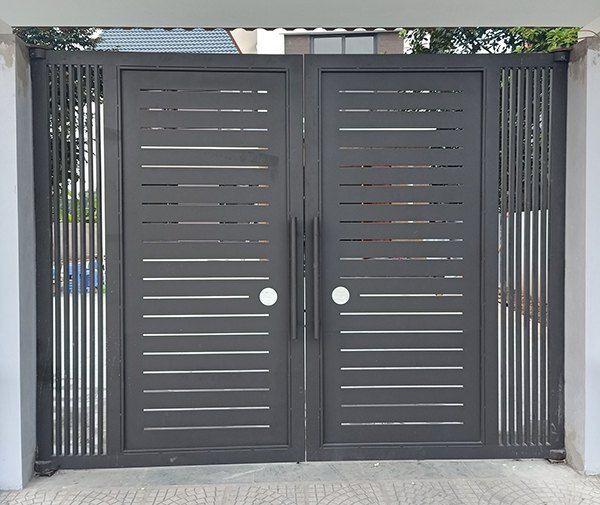 Tổng hợp 40 mẫu cửa cổng sắt hộp 2 cánh 2021 đẹp đến không n…