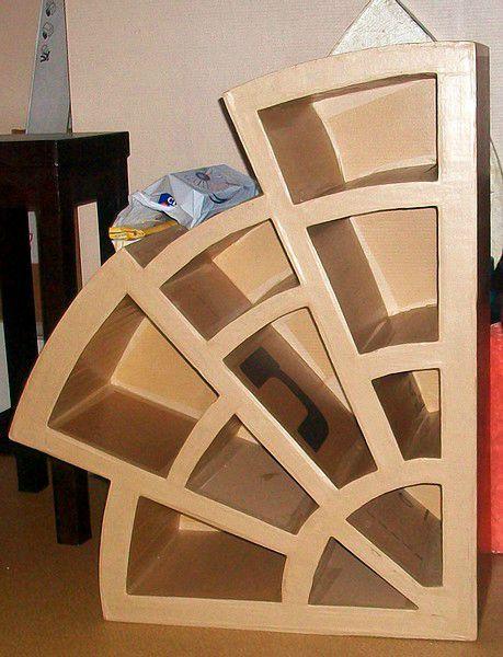 005 Photo De Auboulot Prehambule Meuble En Carton Tuto Design En Carton Artisanat En Carton