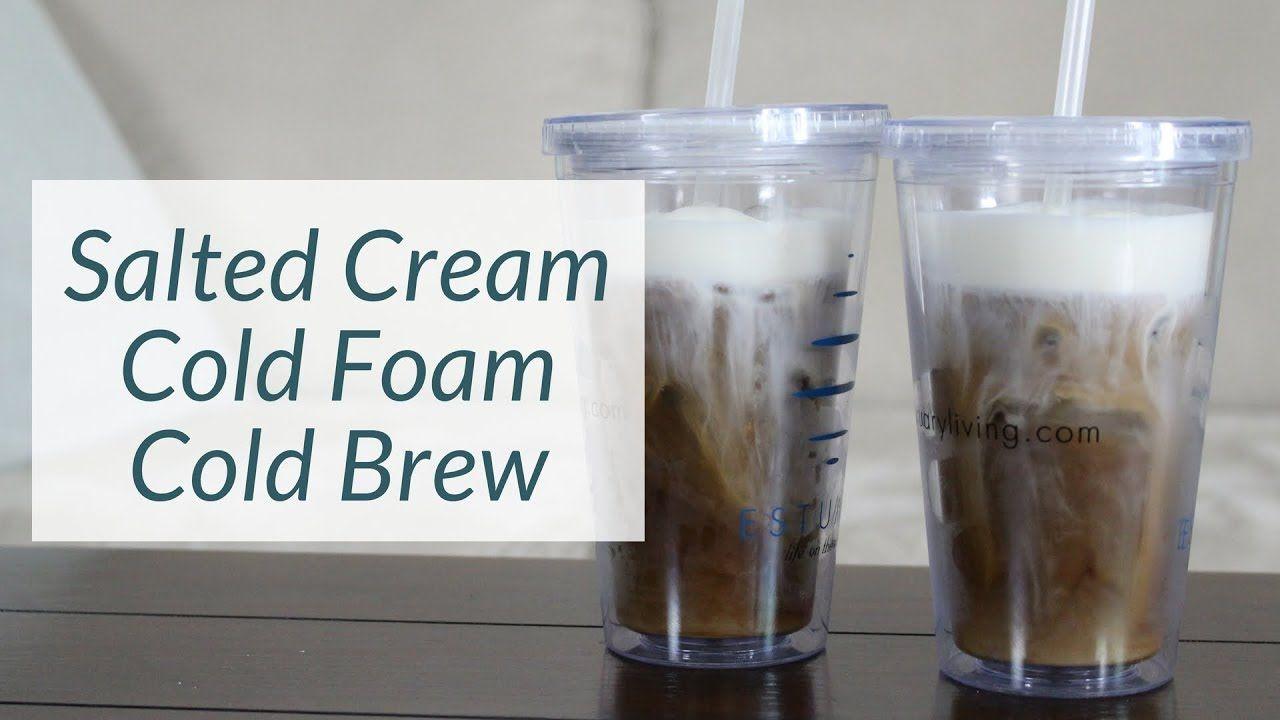Diy starbucks salted cream cold foam cold brew vlogust