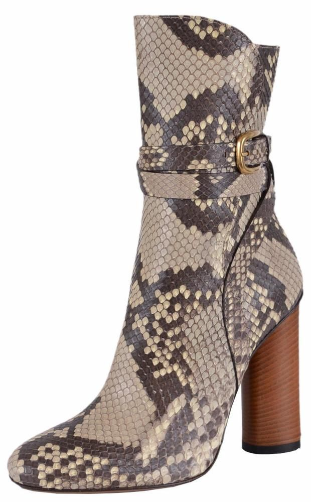 Gucci Women S 381259 Roccia Taupe Python Snakeskin Ankle Boots Shoes 36 6 Gucci Ankleboots Boots Shoe Boots Ankle Boots