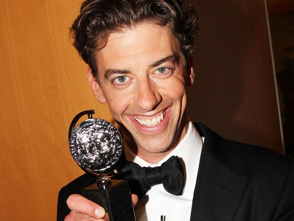 PETER AND THE STARCATCHER star Christian Borle poses with his Tony Award!