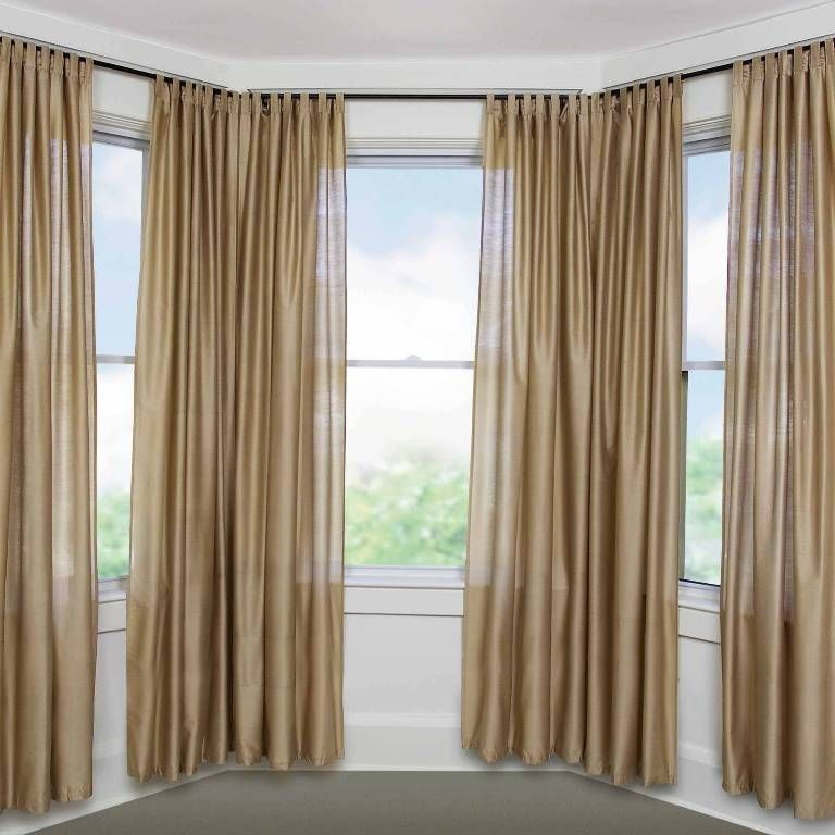 5 Curtain Ideas For Bay Windows Curtains Up Blog: Furniture: Lovely Flexible Curtain Rods For Bow Windows