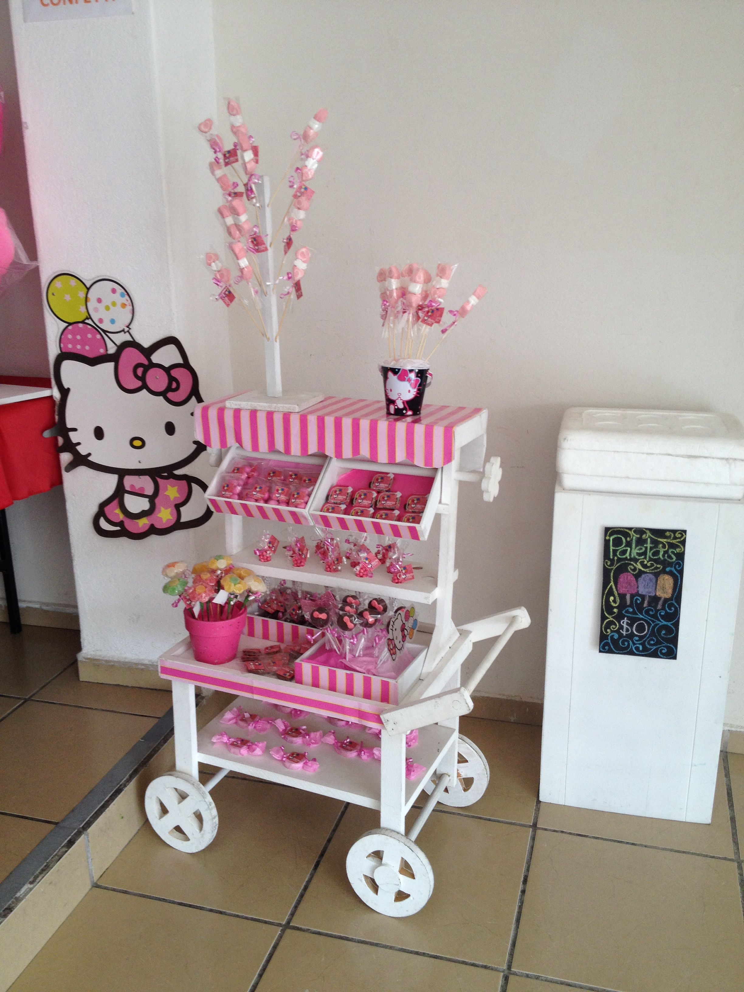 Carreta de kitti dulces pinterest candy cart