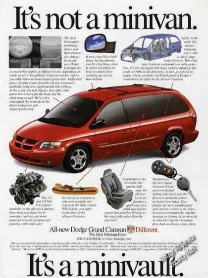 2001 Dodge Grand Caravan Car Advertising Grand Caravan Car Ads