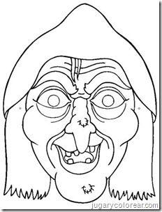 Jugar Y Colorear Dibujos Para Colorear Caretas Halloween Mascaras Halloween Halloween Para Colorear