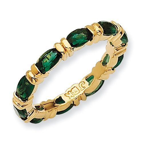 Jackie Kennedy Anniversary Eternity Band 10 Emeralds For 10 Yrs