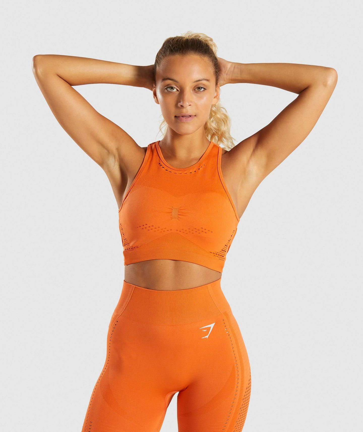 e5a6ac826494e Gymshark Flawless Knit Sports Bra - Burnt Orange - Small in 2019 ...