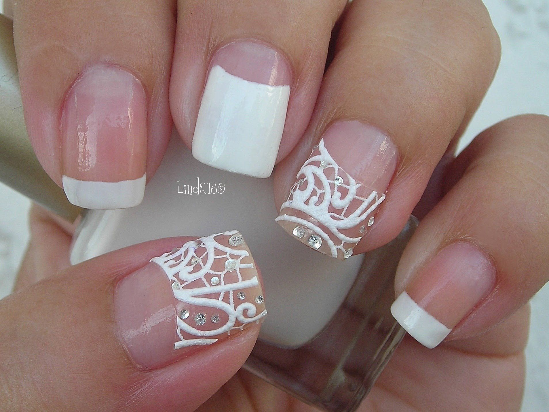 Cozy Nail Art Easy Bridal Nails With Nail Strips Decoracion De Unas
