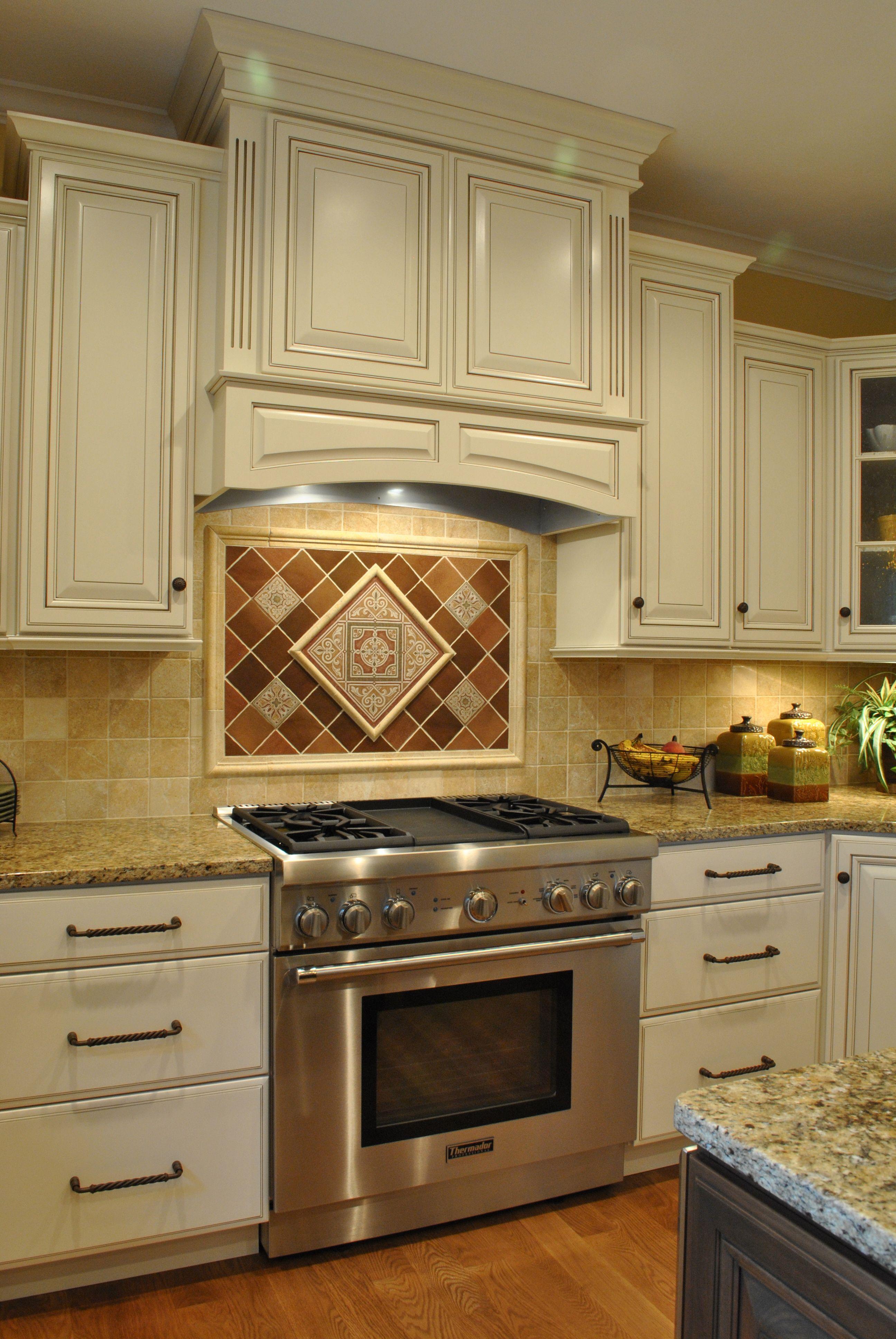 Decorative Backsplash Tile Slide In Range Oven Kitchen Kitchen
