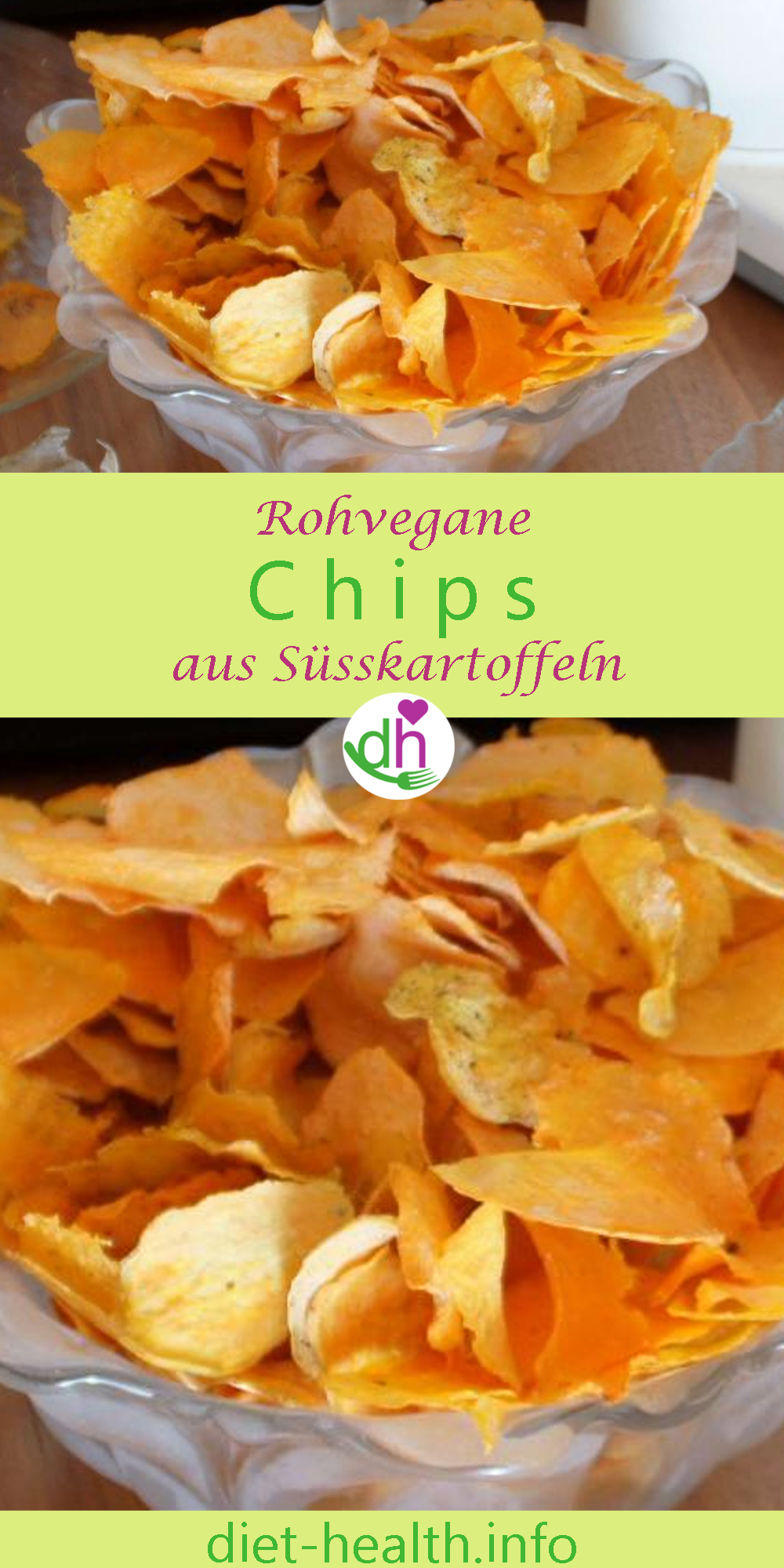 Photo of Rezept mit Nährstofftabellen: Rohe Süsskartoffel-Chips ähnlich Kartoffelchips