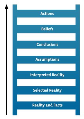 ladder of inference diagram the fifth discipline by peter senge