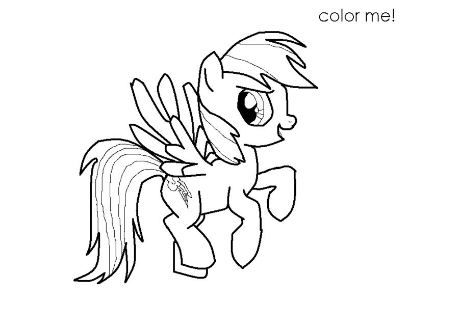 best rainbow dash coloring book httpcoloringpagesgreatsciencebest - My Little Pony Rainbow Dash Coloring Pages
