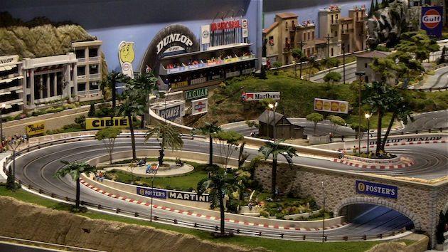 slot mods4circuitmonaco diorama Carrera slot cars