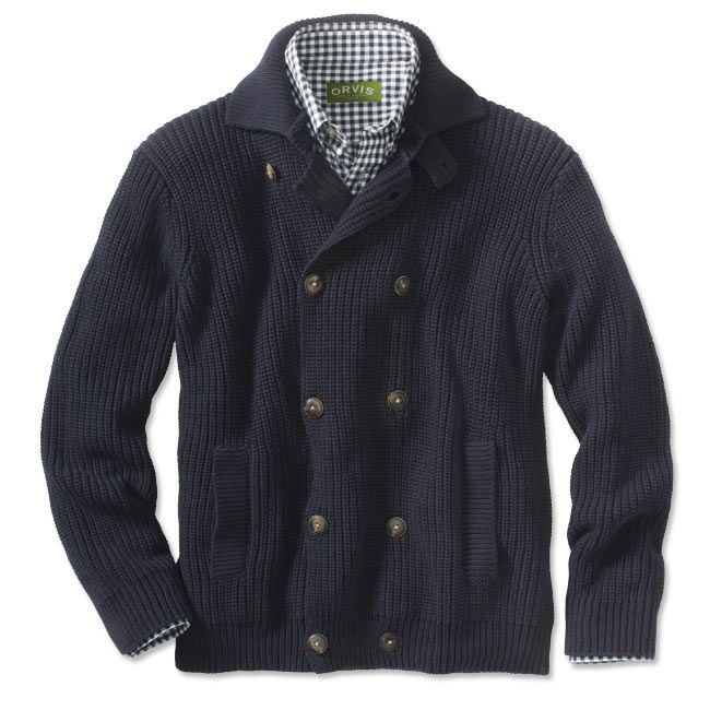 Just found this Button Front Cardigan Sweater - Double-Breasted ...