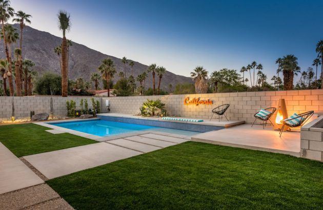 16 Stunning Mid Century Modern Swimming Pool Designs That Will Leave You Breathless Modern Landscaping Modern Pools Modern Landscape Design