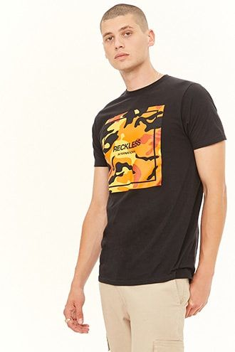 the latest 7194c 752d2 Young   Reckless Camo Graphic Tee