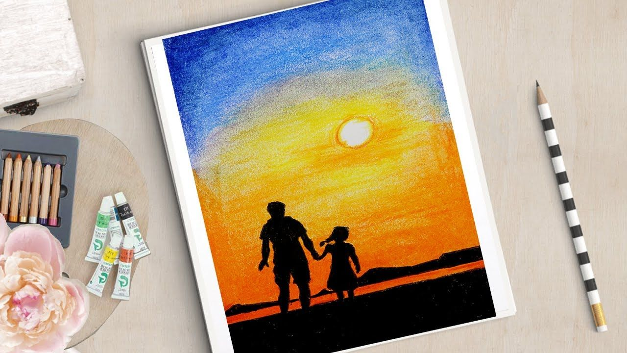 Father S Day Special Drawing How To Draw Father And Daughter
