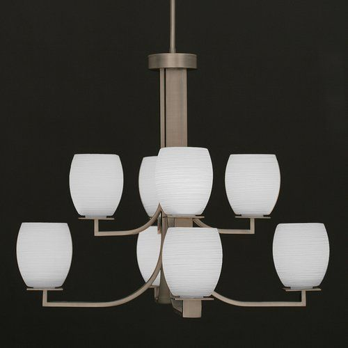Found it at Wayfair - Apollo 8-Light Shaded Chandelier