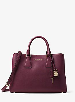 07aa6adba37e Camille Large Leather Satchel by Michael Kors | Things I Like ...