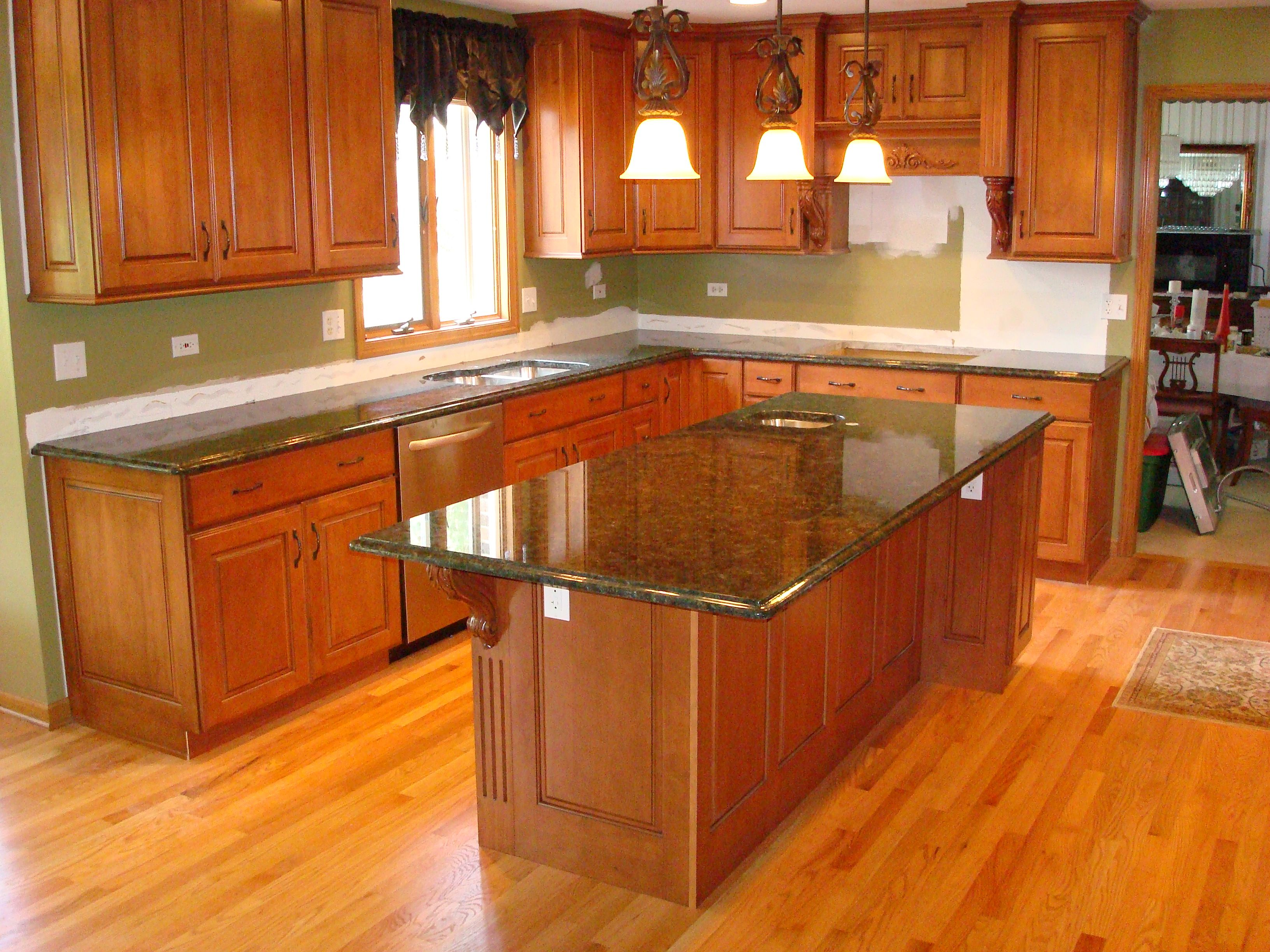 kitchens with green granite countertops | mail: sales ...