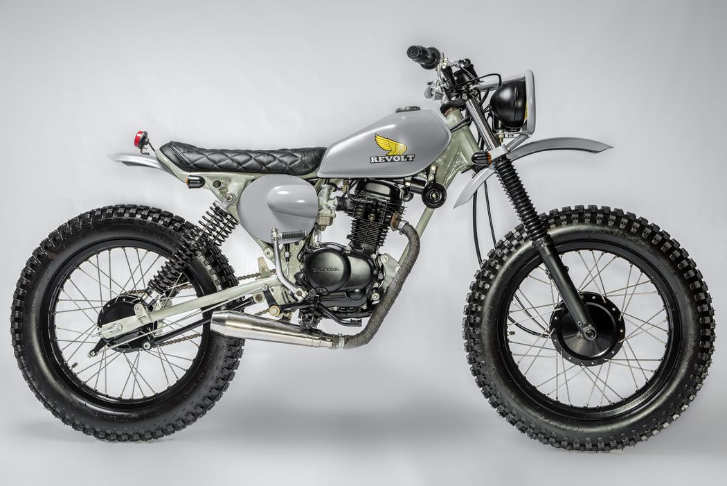 Honda Xl100 Scrambler By Revolt Cycles Tracker Motorcycle Scrambler Cool Bikes