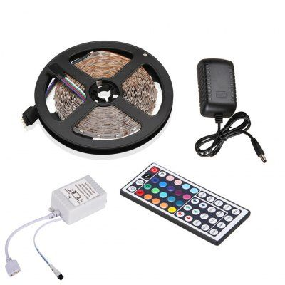 Led Light Strips With Remote Excelvan 164Ft 5M Flexible Strip Smd3528 Rgb 300Leds Color Changing