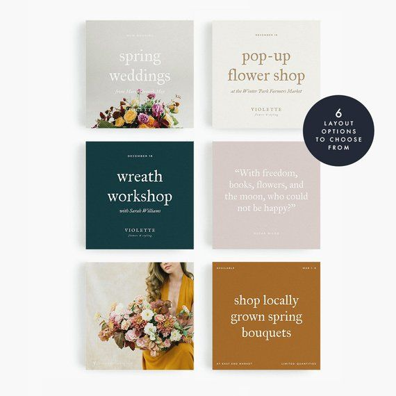 Violette Social Media Art Template Instagram Post Facebook Announcement Wedding Google Doc Templates